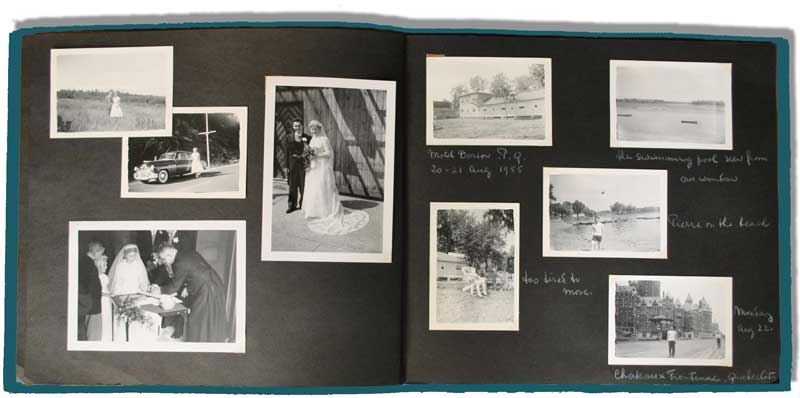 scan photo albums to create and interactive digital photo albums
